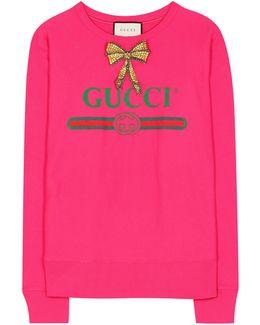 Embellished Cotton-jersey Sweatshirt