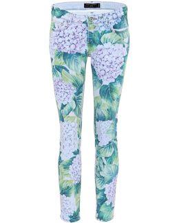 Floral-printed Skinny Jeans
