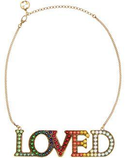 Loved Embellished Necklace