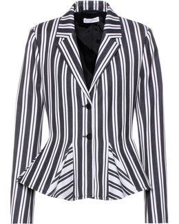 Clary Striped Wool-blend Jacket