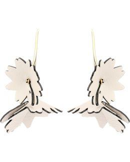 Leather Flower Earrings