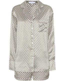 Alba Silk-satin Pyjama Set