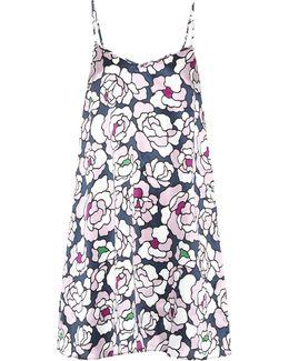 Mila Printed Silk Nightgown