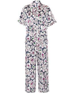 Daria Silk-satin Pyjama Set