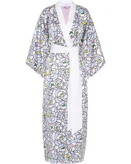 Queenie Printed Silk Robe