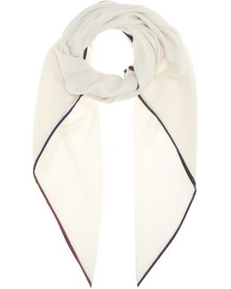 Four In Hand Cashmere And Silk Scarf