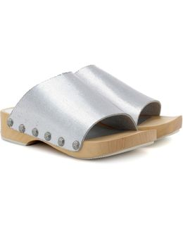 Nykola Metallic Leather Clogs
