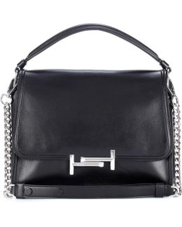 Double T Leather Crossbody Bag