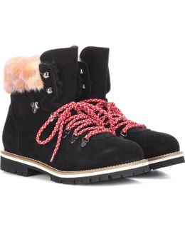 Fur-lined Suede Ankle Boots
