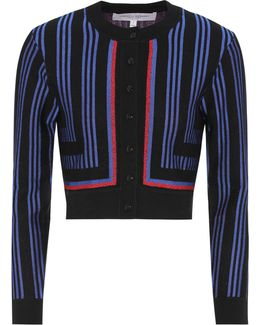 Striped Wool-blend Cardigan