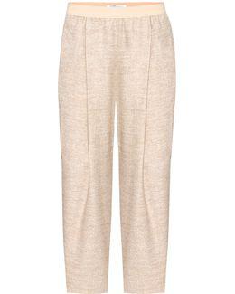 Alpaca-blend Cropped Trousers