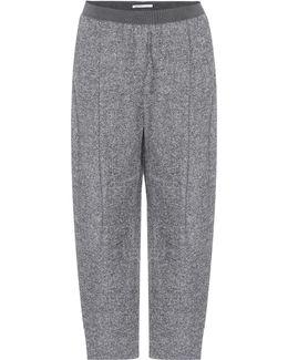 Cropped Alpaca-blend Trousers