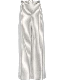 Bowerbird Buckle Cotton-blend Trousers