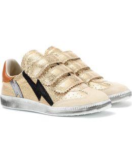 Beth Metallic Leather Sneakers