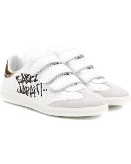 Beth Printed Leather Sneakers