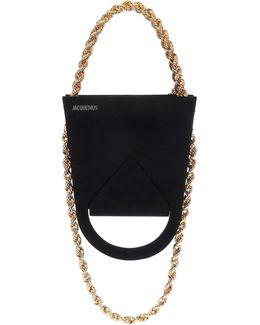 Le Sac A L'envers Suede Shoulder Bag