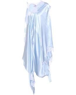 Lace-trimmed Silk Dress
