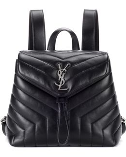 Small Loulou Leather Backpack