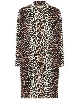 Fabre Leopard-printed Cotton Coat