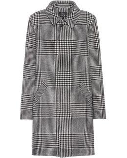 Soho Houndstooth Wool-blend Coat