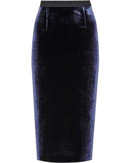Arreton Velvet Skirt