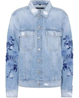 Boyfriend Embroidered Denim Jacket