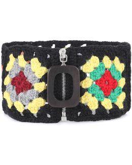 Crochet Wool-blend Neckband