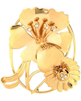 Floral Daisy Crystal-embellished Earpiece