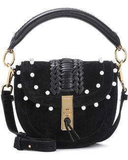 Ghianda Mini Embellished Suede Shoulder Bag
