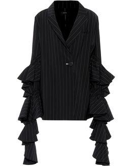 Pinstripe Wool-blend Jacket