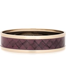 Intrecciato-printed Bangle