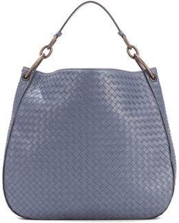Loop Intrecciato Leather Shoulder Bag