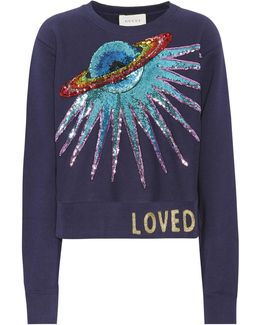 Sequinned Cotton Sweatshirt