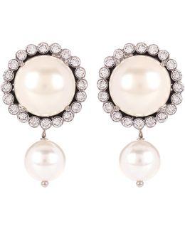 Embellished Faux-pearl Earrings