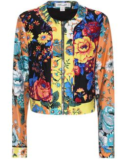 Wool And Silk Printed Jacket