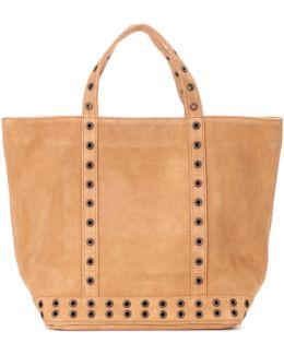 Cabas Moyen Embellished Suede Shopper