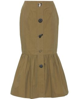 Paula Cotton-blend Skirt