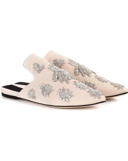 Exclusive To Mytheresa. Com – Multi Ragno Embellished Slippers