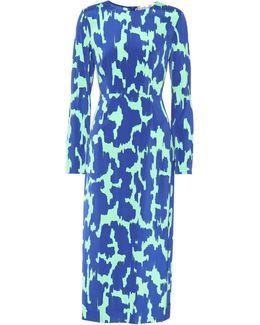 Long-sleeved Stretch-cady Pencil Dress