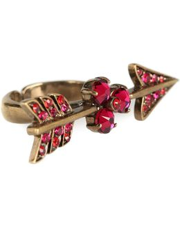 Arrow Crystal-embellished Ring