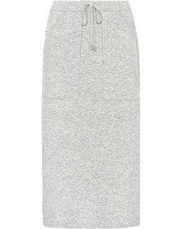 Wool-blend Skirt