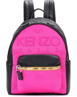 Leather And Neoprene Backpack