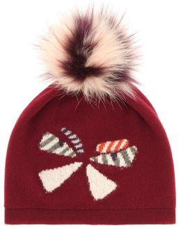 Fur-trimmed Wool Hat