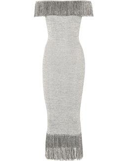 Metallic Jersey Dress