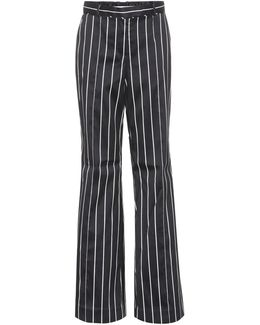 Striped Cotton-blend Trousers