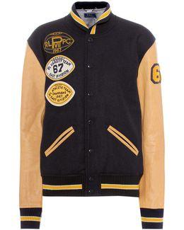 Leather And Wool Varsity Jacket