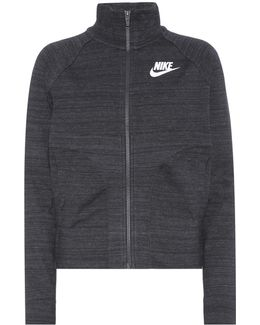 Knitted Cotton-blend Track Jacket