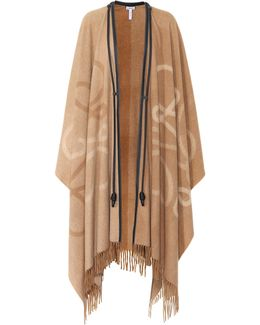 Leather-trimmed Wool And Cashmere Cape