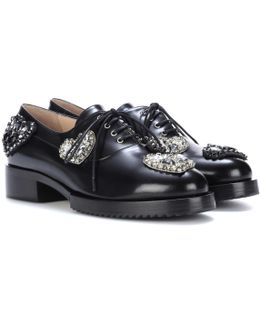 Lena Embellished Leather Oxford Shoes