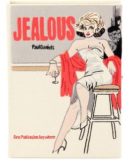 Jealous Embroidered Book Clutch